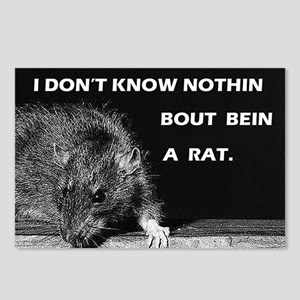 No rat Postcards (Package of 8)