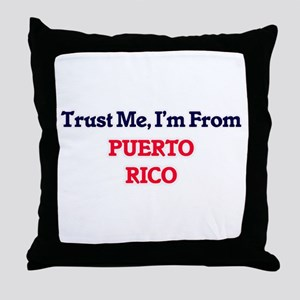 Trust Me, I'm from Qatar Throw Pillow