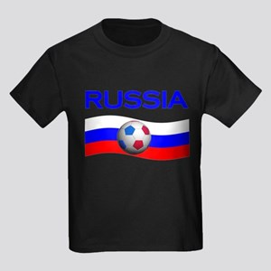 TEAM RUSSIA WORLD CUP Kids Dark T-Shirt