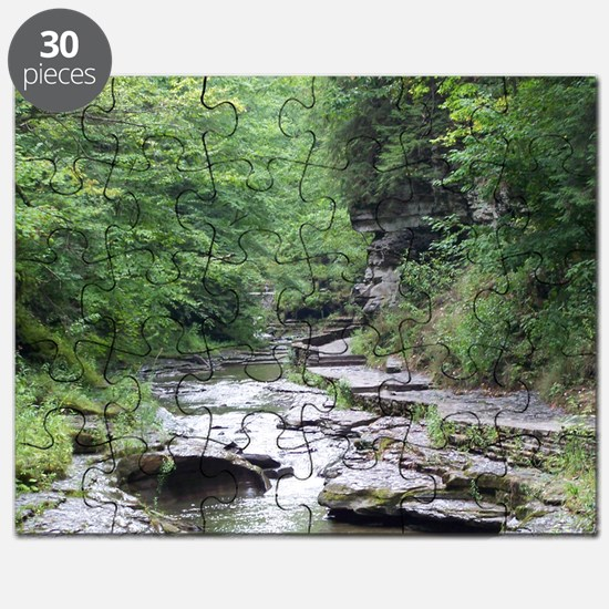 forest river scenery Puzzle