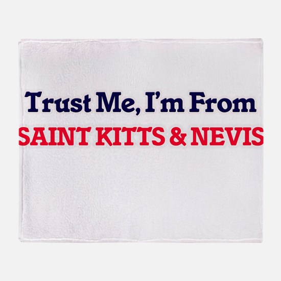 Trust Me, I'm from Saint Lucia Throw Blanket