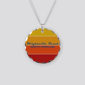 North Carolina - Wrightsvill Necklace Circle Charm