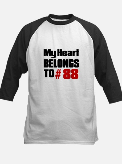 My Heart Belongs To 88 Kids Baseball Jersey