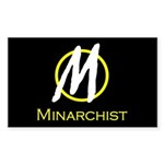 Minarchist Rectangle Sticker