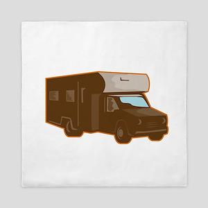 Campervan Motorhome Retro Queen Duvet