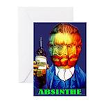 Absinthe Liquor Drink Greeting Cards