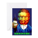 Absinthe Liquor Drink Greeting Cards