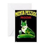 Menta Pezziol Padova Aperitif Liquor Greeting Card