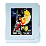 Paris La Nuit Ville des Folies baby blanket