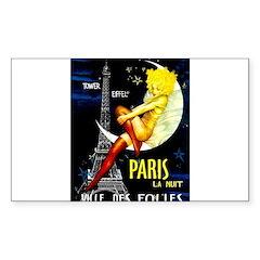 Paris La Nuit Ville des Folies Bumper Stickers