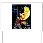 Paris La Nuit Ville des Folies Yard Sign