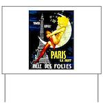 Paris La Nuit Ville des Folies Yard Sign