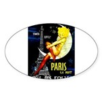 Paris La Nuit Ville des Folies Sticker