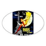 Paris La Nuit Ville des Folies Sticker