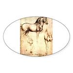 Leonardo da Vinci Study of Horses Sticker