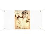 Leonardo da Vinci Study of Horses Banner