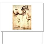 Leonardo da Vinci Study of Horses Yard Sign