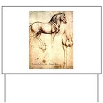 Leonardo da Vinci Study of Horses Yard Sign