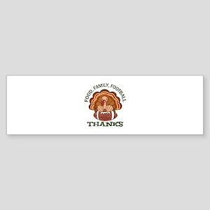 Food Family Football Bumper Sticker