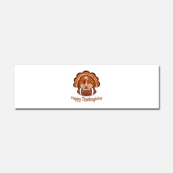 Happy Thanksgiving Car Magnet 10 x 3