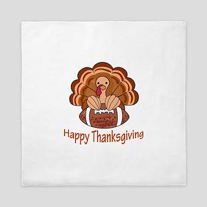 Happy Thanksgiving Queen Duvet