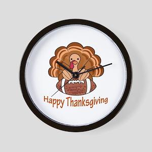 Happy Thanksgiving Wall Clock