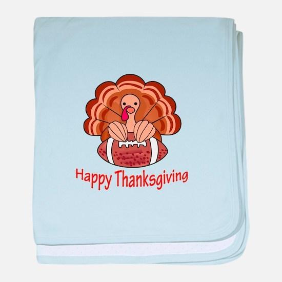 Happy Thanksgiving baby blanket