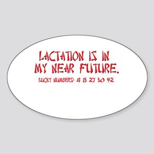 Lactation Fortune Oval Sticker