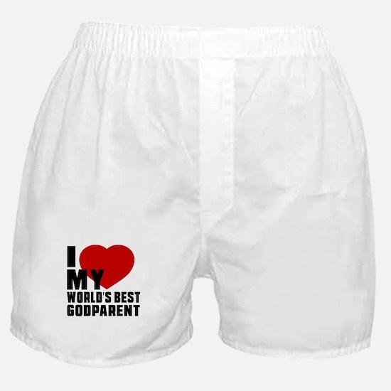 I love My World's Best Godparent Boxer Shorts