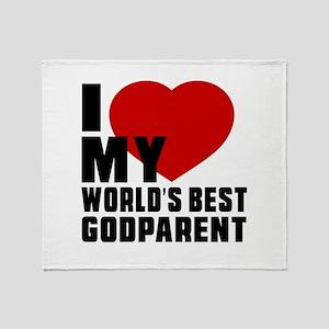 I love My World's Best Godparent Throw Blanket