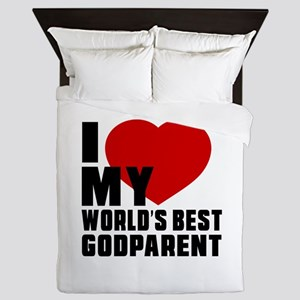 I love My World's Best Godparent Queen Duvet