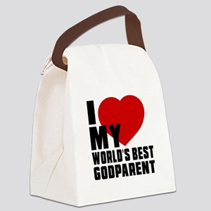 I love My World's Best Godparent Canvas Lunch Bag