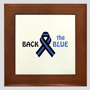 Back The Blue Framed Tile