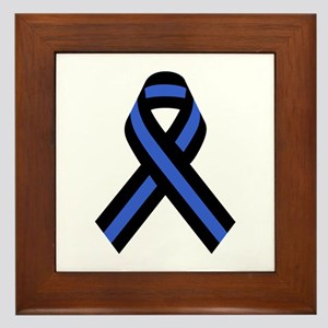 Police Ribbon Framed Tile