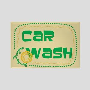 Car Wash Rectangle Magnet