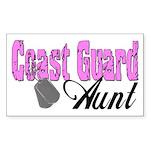 Coast Guard Aunt Rectangle Sticker