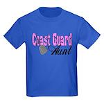 Coast Guard Aunt Kids Dark T-Shirt