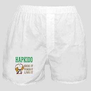 Hapkido kick it punch it live it Boxer Shorts