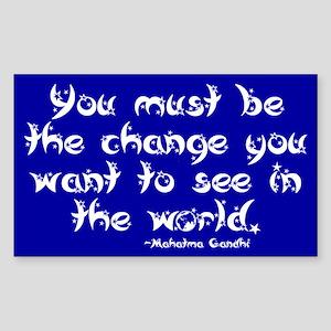 Gandhi Quote Rectangle Sticker