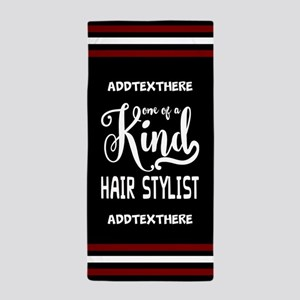Personalized Gift for Hair Stylists Beach Towel