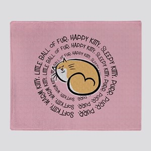 Soft Kitty Song Throw Blanket