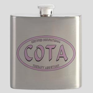 COTA CALIG PINK BLK STRK Flask