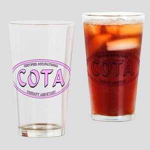 COTA CALIG PINK BLK STRK Drinking Glass