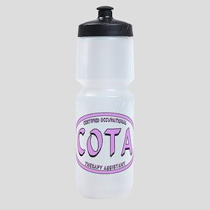 COTA CALIG PINK BLK STRK Sports Bottle
