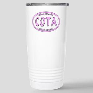 COTA CALIG PINK BLK STR Stainless Steel Travel Mug