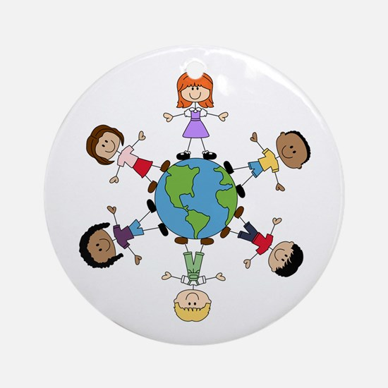 Children Around The World Round Ornament