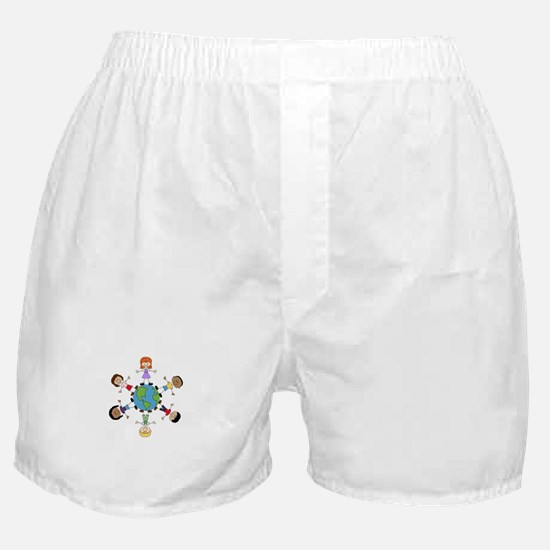 Children Around The World Boxer Shorts