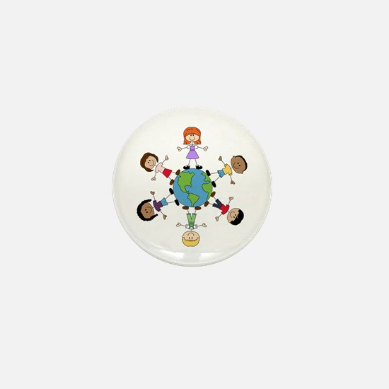 Children Around The World Mini Button