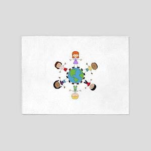 Children Around The World 5'x7'Area Rug