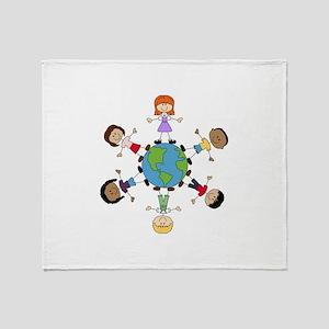 Children Around The World Throw Blanket